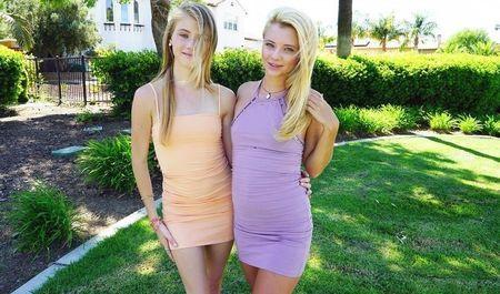 Подруги занимаются сексом втроём после насыщенной прогулки