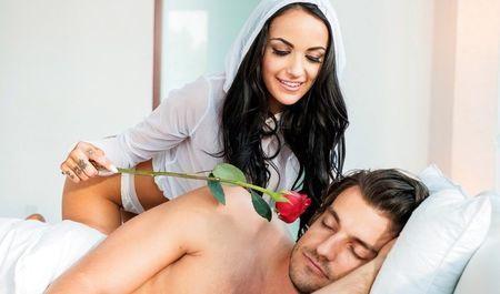 Девочке с чёрными волосами понравилось, как муж оттрахал её поутру